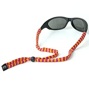 Chums Original Cotton Standard End Eyewear Retainer Striped Colors, Purple & Orange