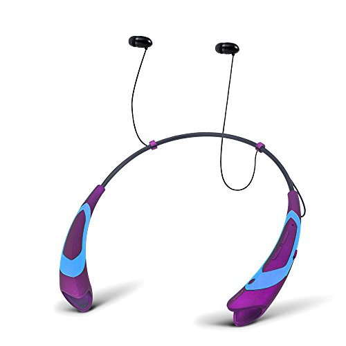 Wireless Bluetooth Headset For Cell Phones (Purple) - 3