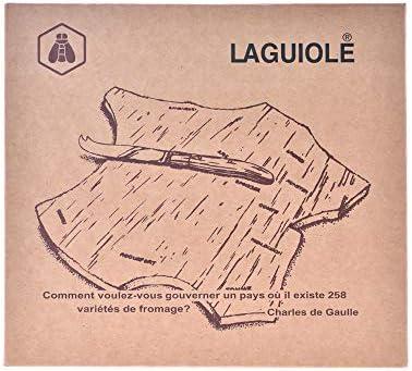 LAGUIOLE - Bandeja de madera de Hevea - madera de caucho, acero inoxidable - Marrón