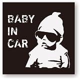COOL赤ちゃんが乗ってますステッカー(IN CAR) 再帰反射でよく目立つ COOL赤ちゃん(IN CAR))