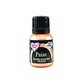 Rainbow Dust Edible Food Paint METALLIC PEARLESCENT PEACH For Cake Decorating 2 Rainbow Dust Metallic PEARLESCENT PEACH 100% Edible Food Paint - 25mlA radiant paint that brings a stunning metallic pearlescent shine to all your edible c