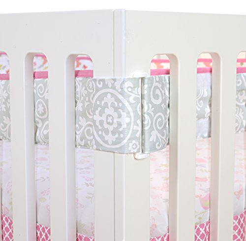 - Just Born Botanica Fresh Air Crib Liner, Pink/Floral