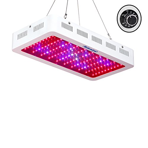 Galaxyhydro Dimmable LED Grow Light, 300W Indoor Plants Grow Lights with UV and IR for Veg and Flower