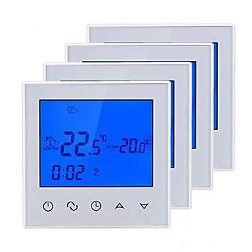 Beok TDS21-EP - Termostato digital de habitación con pantalla táctil para sistema de calefacción de suelo radiante, controlador de temperatura programable., ...