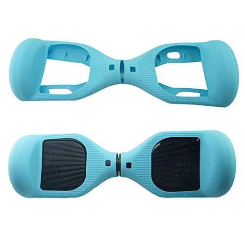 FBSPORT 6.5inch Silicone Scratch Protector Cover Case for 2 Wheels Self Balancing Electric Scooter (New Teal)