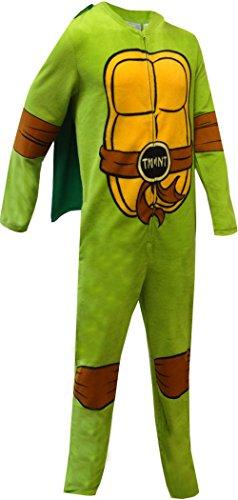 Teenage Mutant Ninja Turtle Fleece Onesie Pajama for men (Large) (Ninja Turtle Onsie)