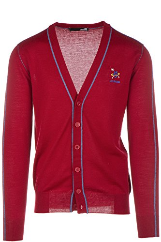Love Moschino cardigan pull homme rouge