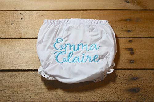 Personalized Baby Bloomers Embroidered Custom Monogram Baby Girl Bloomers Diaper Cover Covers