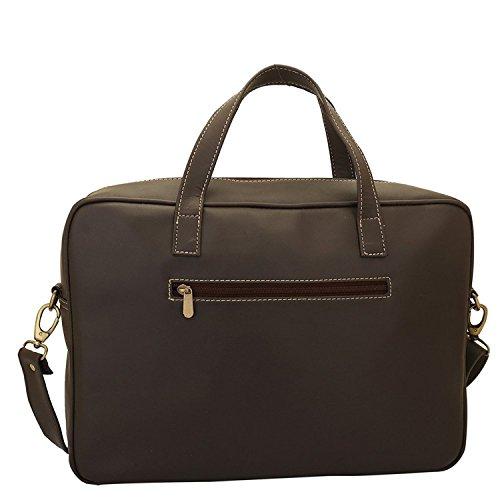 Lapis O Lupo Swartz Unisex Laptoptasche Braun Designer Satchel Taschen mit Multi Pocket