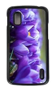 Google Nexus 4 Case,MOKSHOP Awesome crocus flower Hard Case Protective Shell Cell Phone Cover For Google Nexus 4 - PC Black