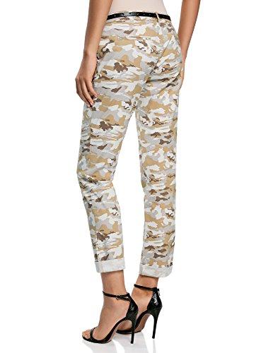 Mujer Con Gris Ultra 2035o Pantalones Oodji Chinos Cinturón fFCqn5w