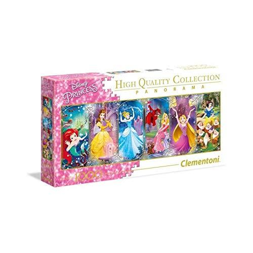 Clementoni 39444 Clementoni-39444-Disney Panorama Collection-Princess-1000 Pieces, -