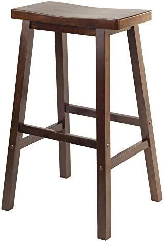 Best Home Adjustable Metal and Natural Fir Wood Finish Bar Height Stool