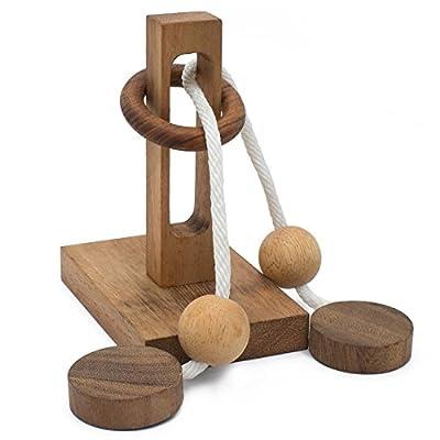 Oliver String Wooden Puzzle Brain Teaser: Toys & Games