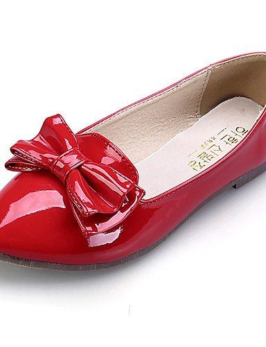 us6 cn36 talón Toe negro comodidad almond eu36 uk4 Flats casual de mujer almendra rojo vestido señaló zapatos plano PDX de Toe cerrado rosa BqSHgg