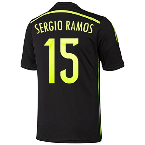 Adidas Spain Away Jersey (Adidas Sergio Ramos #15 Spain Away Jersey World Cup 2014 (YOUTH) (YS))