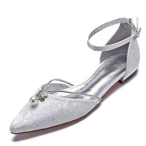 Mujer 43 Hebilla L TamañO Marfil YC Cerrado De Puntada White De Plataforma De De Boda Moda 36 Zapatos Mediados CCT5ran