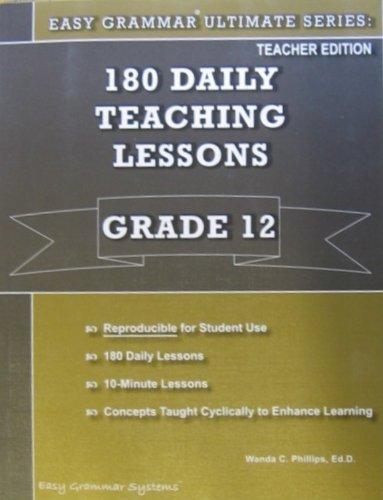Easy Grammar Ultimate Series Grade 12 Teacher