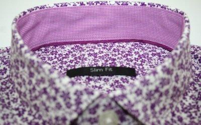 Ex Store in puro cotone motivo fiori a maniche corte Slim fit-Shirt