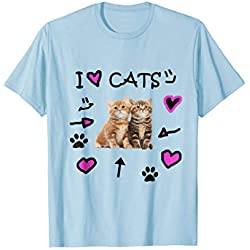 I Love Cats - I Love Kittens - Cat Lover T-Shirt Tee Shirt