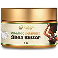 Unrefined Shea Butter - African Organic Ivory & Raw – Use Alone or In DIY Cream, Soap & More! - Vitamins Rich, Natural…