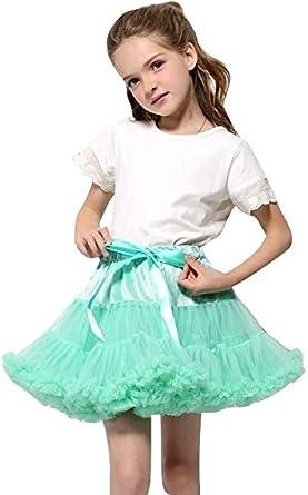 Summer Boutique Christmas Baby Girls Vibrant Colour Dance Tutu Princess Skirts Pettiskirt Layered Ruffles Fluffy Tulle Dancewear 1-8 Years