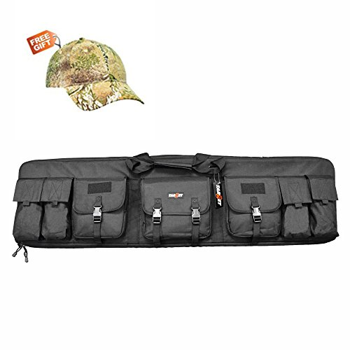 Target Tactical Waterproof Double Rifle Storage Case Backpack Bag with Padded Shoulder Strap and Pouches,52 inch, (Fnc Magazine)