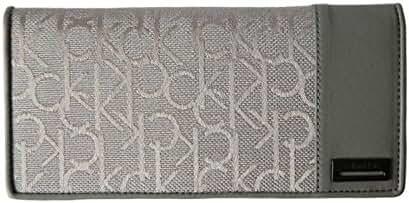 Calvin Klein Caleb Logo Jacquard Modern Passport Wallet