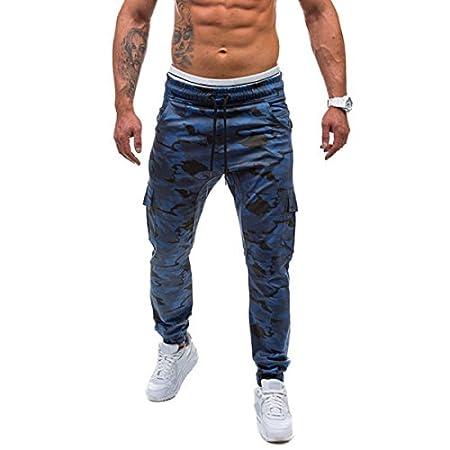 MOMOALA Alamor Mens Casual Running Camuflaje Deporte Pantalones ...
