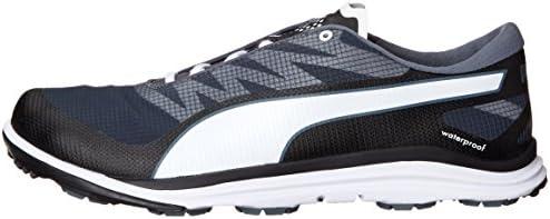PUMA Men's Biodrive Golf Shoe, BlackWhiteTurbulence, 13 M