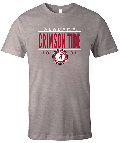 NCAA Alabama Crimson Tide Tradition Short Sleeve Tri-Blend T-Shirt, Athletic Grey,Large (University Alabama Crimson Tide)