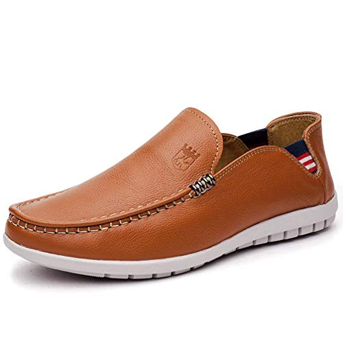 (Phil Betty Mens Casual Shoes Round-Toe Non-Slip Wear-Resistant Business Flat Loafers Shoes)