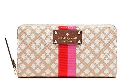 (Kate Spade Classic Spade Neda Zip Around Wallet Stucco)