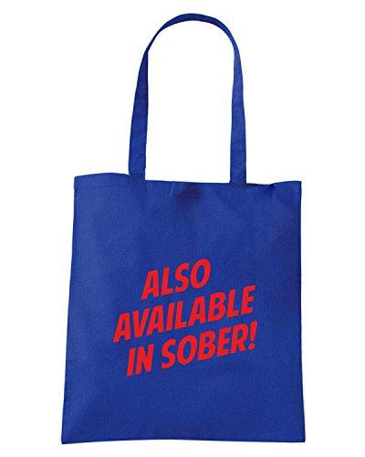 T-Shirtshock - Bolsa para la compra BEER0145 Also Available In Sober 2 Azul Real