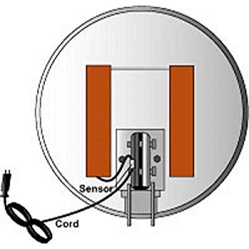Ice Zapper Satellite Dish Heater Kit w/ Thermostat for 46cm to 1.2 Meter Dish Antennas Directv Satellite Dish Cover