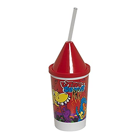 Dixie 10KD271014 3 Piece Little Saurus Rocks Kid's Favorites Collectible Set Includes 10 oz. Cup, Lid, and Clear Straw (Case of 400 cups, 400 lids, and 400 - 10 Ounce Styrofoam Cups