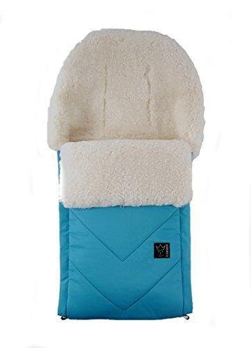 Kaiser Dublas Medical Sheepskin Footmuff (White/Ocean Blu...
