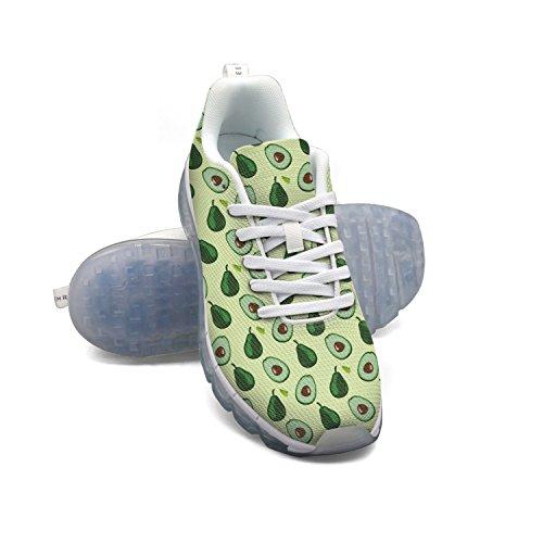 Faaerd Modello Avocado Mens Mesh Traspirante Scarpe Da Corsa Cuscino Daria Casual Passeggiate Sportive Scarpe Da Ginnastica Allaperto