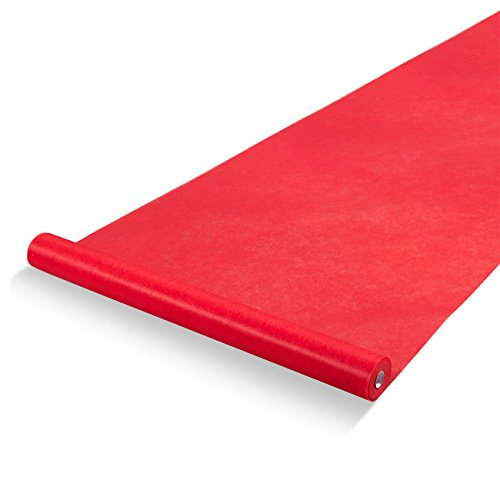 - Red Carpet Runner - Aisle Runner - Essential Hollywood and Christmas Party Decoration, Runway Rug, Suitable for Indoor or Outdoor Party Decoration - Red, 3 x 100 Feet 30gsm Thickness