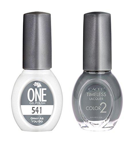 Nail Gel & Polish Color Polish Set, Gray As You Go, 0.5 oz E