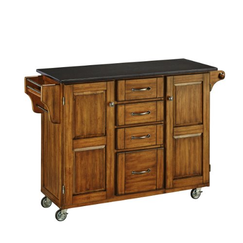 Home Styles 9100-1064 Create-a-Cart 9100 Series Kitchen Cart with Black Granite Top, Cottage Oak