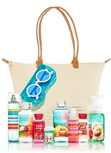 Bath & Body Works Perfect Summer Tote & Sunglasses Pouch + 8 Summer Must - Totes Sunglasses