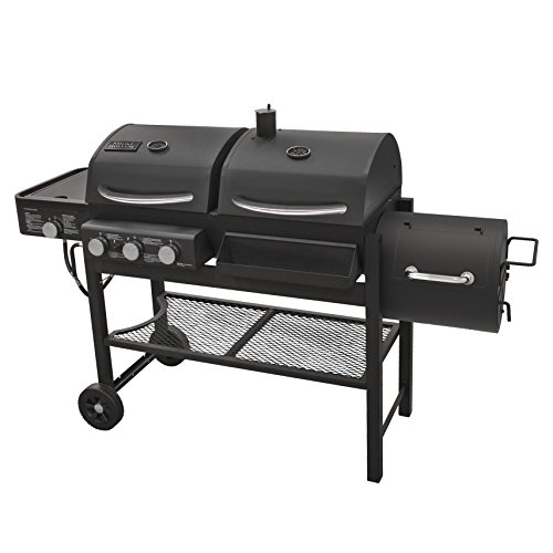 Smoke Hollow TC3718SB Gas-Charcoal-Smoker Combination Grill with Side Burner (Best Charcoal Smoker Under $500)