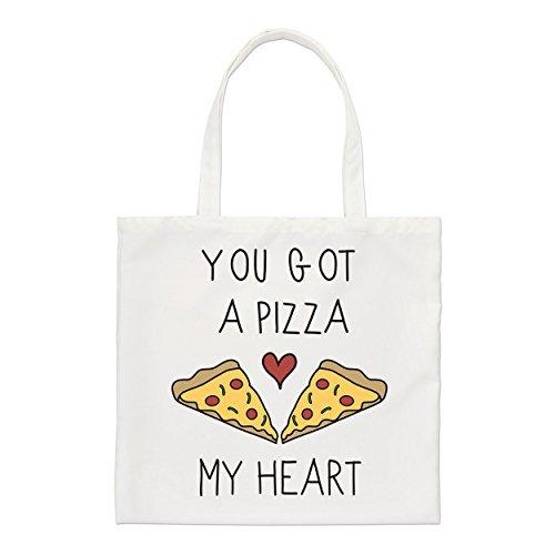 YOU GOT A Pizza Mi Corazón Pequeño Bolso de mano