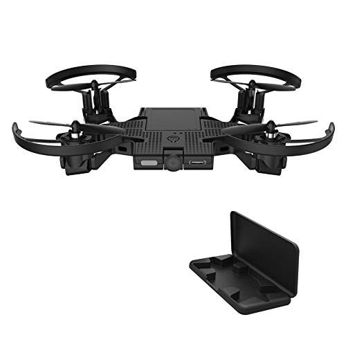 AEE SELFLY Pocket Selfie Drones with Camera, Foldable Propellers and Face Tracking Technology. Gesture Controlled Quadcopter Drone for Kids and Adults, Flight Control via iOS and Android App (Best Flight Tracker App Android)