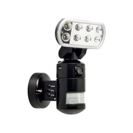 Versonel vslnwp702b nightwatcher pro motorized led security motion versonel vslnwp702b nightwatcher pro motorized led security motion tracking flood light with camerablack mozeypictures Gallery