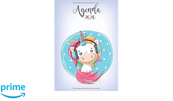 Agenda 2020: Tema Unicornios Musica Agenda Mensual y Semanal ...