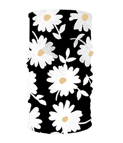(NOrthsky Daisy Print Versatile Headwear Fashion Soft Fitted Head Wrap Scarf One Size Fits Most)