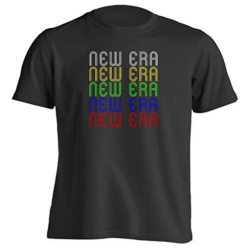 [Retro Hometown - New-Era, MI 49446 - Black - XXX-Large - Vintage - Unisex - T-Shirt] (70s Era Clothing)