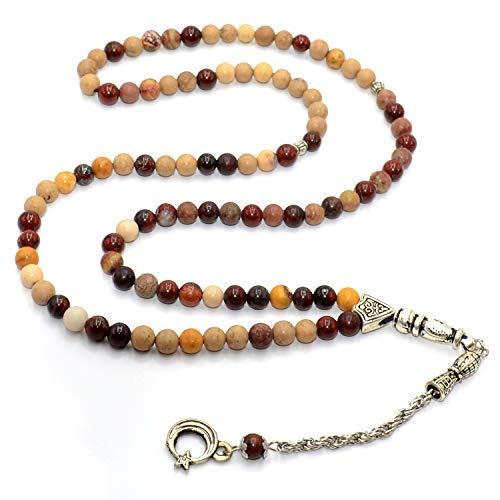 Prayer Bead (6 mm, 99 Beads) Tesbih-Tasbih-Tasbeeh-Misbaha-Masbaha-Subha-Sebha-Sibha-Rosary-Worry Beads ()